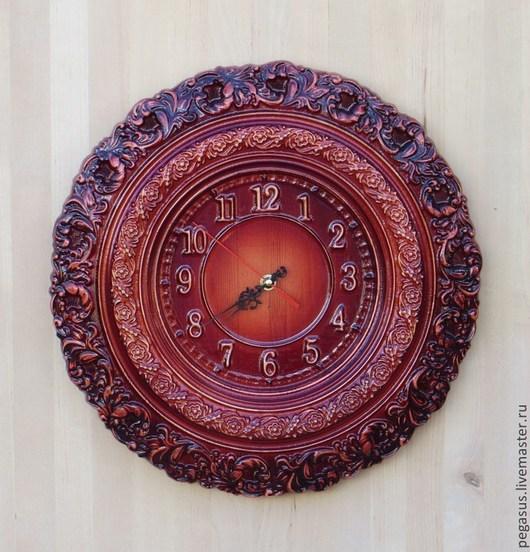 """Часы для дома ручной работы. Ярмарка Мастеров - ручная работа. Купить Часы для дома настенные  """"Завитушки"""".. Handmade. Часы настенные"""