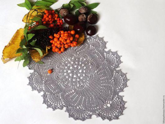 салфетка вязаная, салфетка крючком, салфетка кружевная, салфетка ажурная, дорожка на стол, осенние листья.