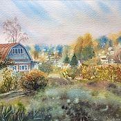 Картины и панно ручной работы. Ярмарка Мастеров - ручная работа Осень на даче.. Handmade.