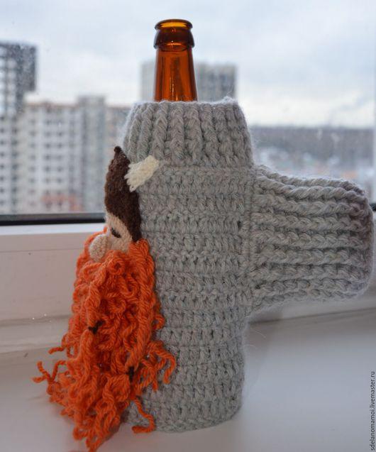 """Подарки для мужчин, ручной работы. Ярмарка Мастеров - ручная работа. Купить варежка для пива """"сонный викинг"""". Handmade. Разноцветный, рыжий"""