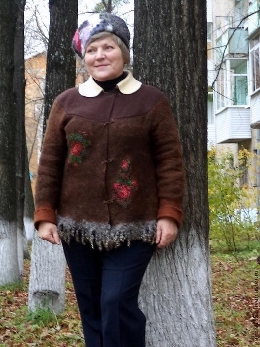 """Верхняя одежда ручной работы. Ярмарка Мастеров - ручная работа. Купить Валяная куртка  """" Подарок осени"""". Handmade. Коричневый"""
