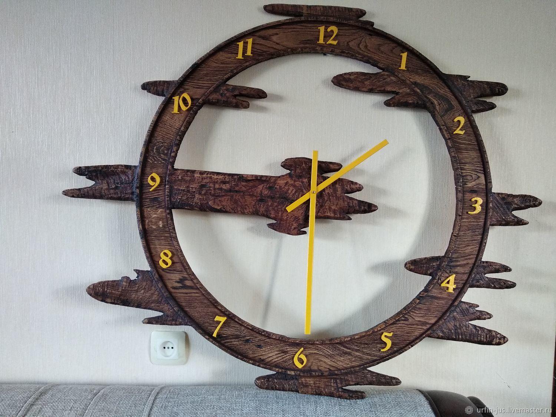 Деревянные часы-Колесо времени, Часы классические, Новочебоксарск,  Фото №1