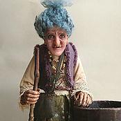 """Куклы и игрушки handmade. Livemaster - original item Интерьерная кукла """"Баба-Яга со ступой"""". Handmade."""