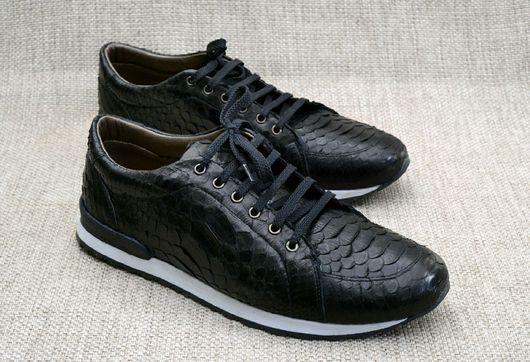 """Обувь ручной работы. Ярмарка Мастеров - ручная работа. Купить Мужские кроссовки"""" Питоновые"""". Handmade. Обувь ручной работы"""