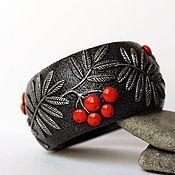 Украшения handmade. Livemaster - original item A wide bracelet made of polymer clay Rowan. Handmade.
