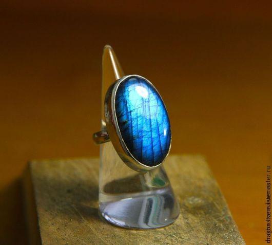 """Кольца ручной работы. Ярмарка Мастеров - ручная работа. Купить Кольцо """"Nereida"""" с Лабрадоритом. Handmade. Синий, опал кабошон"""