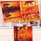 Для дома и интерьера handmade. Livemaster - original item Safari set of 3 pieces of towels 48*60 cm, matting. Handmade.