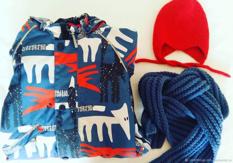 Осенний комплект для мальчика: шапка и шарф, Шапки, Екатеринбург, Фото №1
