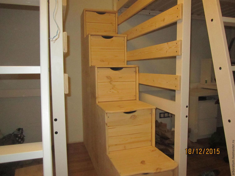 Кровать с лестницей своими руками - чертежи и фото Своими 34
