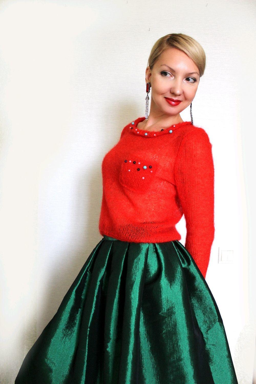 """Пуловер ручной вязки """"Мак"""", Пуловеры, Ставрополь,  Фото №1"""