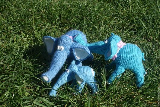 Игрушки животные, ручной работы. Ярмарка Мастеров - ручная работа. Купить Слон вязаный. Семейство слонов. Handmade. Слон