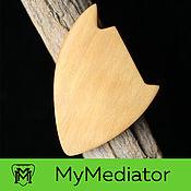 Музыкальные инструменты handmade. Livemaster - original item The mediator from the wood of the white beech Wood Alpha (bright). Handmade.