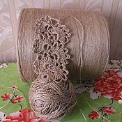 Материалы для творчества handmade. Livemaster - original item The yarn is jute. thin crochet tablecloths. curtains. lace. Handmade.