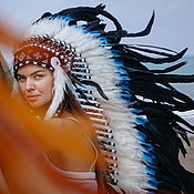 Сувениры и подарки handmade. Livemaster - original item Headdress of Indian . Native American roach . The costume for the new year. Handmade.