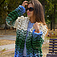 """Кофты и свитера ручной работы. Ярмарка Мастеров - ручная работа. Купить Кардиган """"Азиатский колосок"""" в стиле Лало.. Handmade. Разноцветный"""