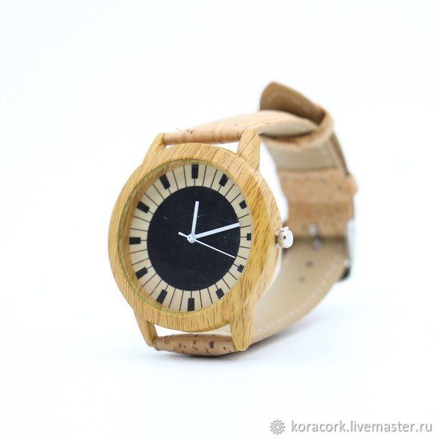 Наручные часы из португальской пробки ручная работа Wa-0005w, Часы, Москва, Фото №1
