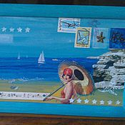 Картины и панно ручной работы. Ярмарка Мастеров - ручная работа Прогулка у моря. Handmade.