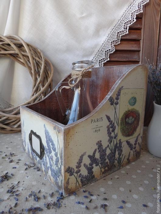 """Кухня ручной работы. Ярмарка Мастеров - ручная работа. Купить Короб """"Lavandula"""". Handmade. Сиреневый, короб для специй, для кухни"""