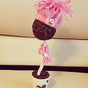 """Цветы и флористика ручной работы. Ярмарка Мастеров - ручная работа Кофейное деревце """"Девушка в розовом""""!!!. Handmade."""