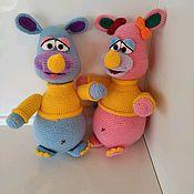 Мягкие игрушки ручной работы. Ярмарка Мастеров - ручная работа Носорог, вязаная игрушка. Handmade.