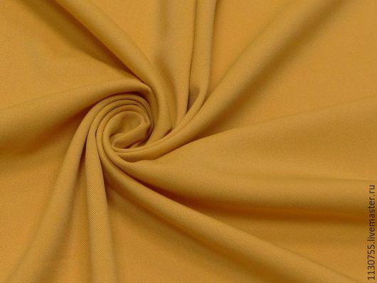 Шитье ручной работы. Ярмарка Мастеров - ручная работа. Купить ткань костюмная вискоза стрейч горчица. Handmade. Черный, ткани