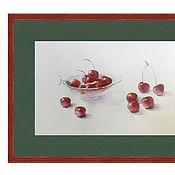 Картины и панно ручной работы. Ярмарка Мастеров - ручная работа В саду созрели вишни.... Handmade.