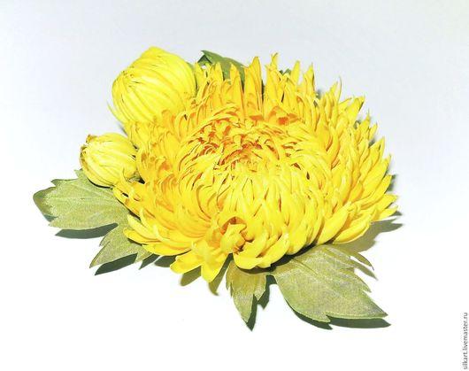 """Броши ручной работы. Ярмарка Мастеров - ручная работа. Купить Брошь """"Солнечное лето"""". Handmade. Желтый, брошь цветок"""
