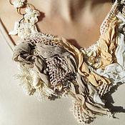 """Украшения ручной работы. Ярмарка Мастеров - ручная работа """"Беззаботность"""" комплект текстильный колье + браслет. Handmade."""