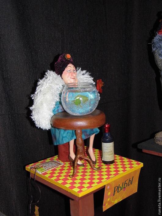 """Коллекционные куклы ручной работы. Ярмарка Мастеров - ручная работа. Купить """"Рыбы"""" (проект """"Знаки Зодиака в бабках"""" по рисункам Ольги Громовой). Handmade."""