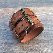 Браслет из бусин ручной работы. Ярмарка Мастеров - ручная работа Браслет кожаный. Handmade.