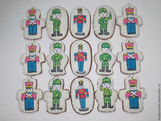 Кулинарные сувениры ручной работы. Ярмарка Мастеров - ручная работа. Купить Пряничная армия-подарок к 23 февраля. Handmade.