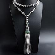 Украшения handmade. Livemaster - original item Necklace tassel gray. Sotuar Gray pearl BUSINESS LADY Handmade. Handmade.