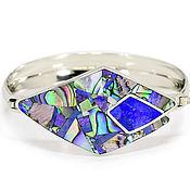 Украшения handmade. Livemaster - original item BRACELET with lapis Lazuli, Charoite, mother of Pearl. Exclusive bracelet. Handmade.