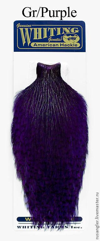 Другие виды рукоделия ручной работы. Ярмарка Мастеров - ручная работа. Купить Перья American Rooster Capes GR/ Purple (41801154). Handmade.