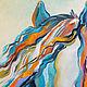 """Животные ручной работы. Картина с лошадью """"Вместе с Ветром""""  холст масло. ЯРКИЕ КАРТИНЫ Наталии Ширяевой. Ярмарка Мастеров."""