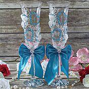 Свадебный салон handmade. Livemaster - original item Glasses wedding. Handmade.