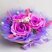 Цветы и флористика ручной работы. Ярмарка Мастеров - ручная работа Конфетная композиция из роз. Handmade.