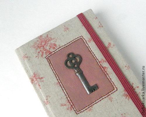 """Блокноты ручной работы. Ярмарка Мастеров - ручная работа. Купить Блокнот """"Vintage key"""". Handmade. Блокнот ручной работы, ключик"""
