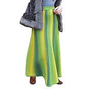 Одежда ручной работы. Ярмарка Мастеров - ручная работа Юбка вязаная теплая в пол. Handmade.