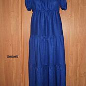 Одежда ручной работы. Ярмарка Мастеров - ручная работа Платье льняное ярусное. Handmade.