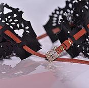 Аксессуары ручной работы. Ярмарка Мастеров - ручная работа Широкий ремень из натуральной кожи AK.R0014. Handmade.