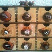 """Для дома и интерьера ручной работы. Ярмарка Мастеров - ручная работа Мини-комод """"Шоколатье"""" на 9 ящичков. Handmade."""