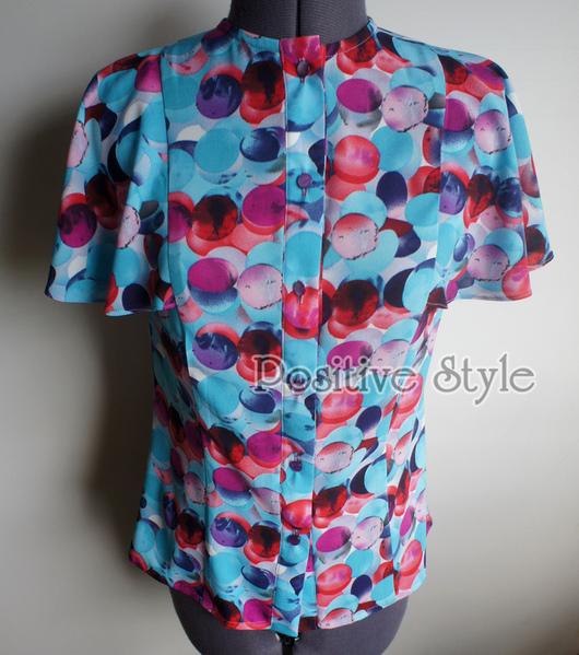 """Блузки ручной работы. Ярмарка Мастеров - ручная работа. Купить Блузка """"Колибри"""". Handmade. Лето, женская одежда, голубой, шифон"""