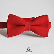 Аксессуары handmade. Livemaster - original item Bow tie in cherry Red / groom`s bowtie for the cherry wedding. Handmade.