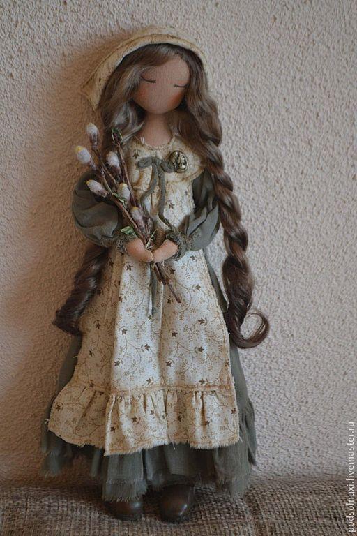Коллекционные куклы ручной работы. Ярмарка Мастеров - ручная работа. Купить ВЕРБА УЖЕ РАСПУСТИЛАСЬ.... Handmade. Кукла ручной работы