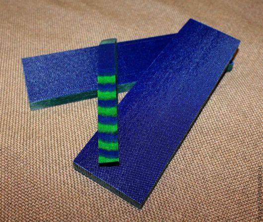 Оружие ручной работы. Ярмарка Мастеров - ручная работа. Купить Micarta #35. Handmade. Микарта, рукоять ножа, синий, ткани