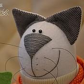 Куклы и игрушки ручной работы. Ярмарка Мастеров - ручная работа Кот с морковкой.. Handmade.
