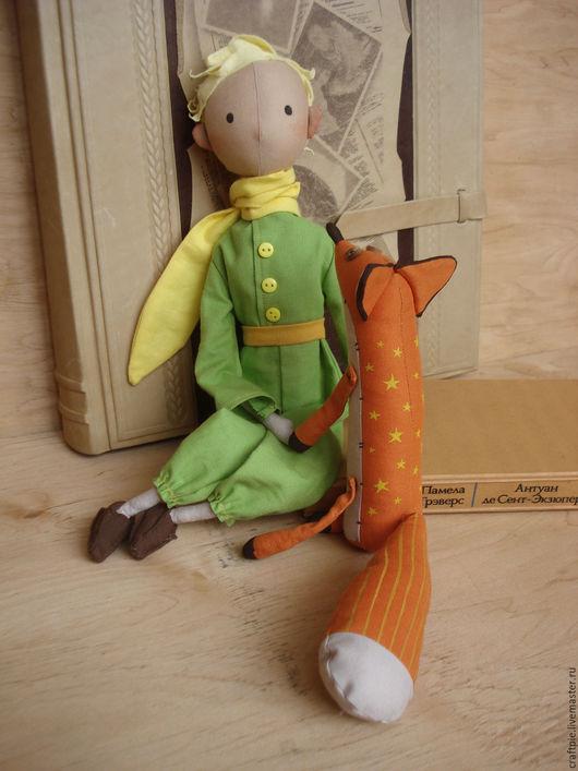 Сказочные персонажи ручной работы. Ярмарка Мастеров - ручная работа. Купить Маленький принц и мистер лис. Handmade. Рыжий, бубенчик