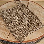 Для дома и интерьера handmade. Livemaster - original item The sponge-mitten jute