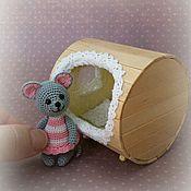 Куклы и игрушки ручной работы. Ярмарка Мастеров - ручная работа мышка Зиночка (с домиком). Handmade.